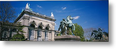 Low Angle View Of A Statue In Front Metal Print by Panoramic Images