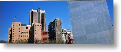 Low Angle View Of Buildings, Hyatt Metal Print