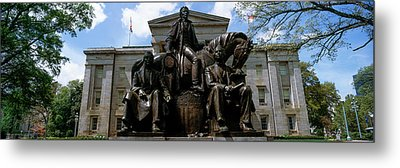 Low Angle View Of Statue Metal Print by Panoramic Images