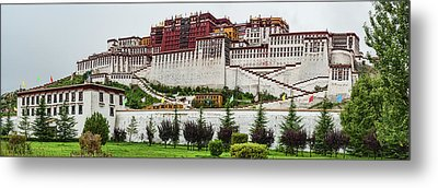 Low Angle View Of The Potala Palace Metal Print by Panoramic Images