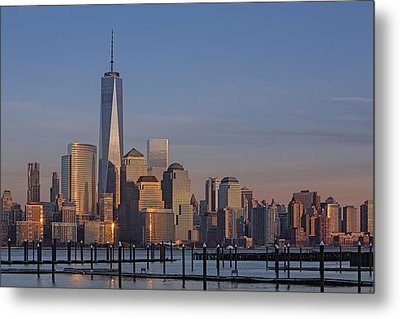 Lower Manhattan Skyline Metal Print by Susan Candelario