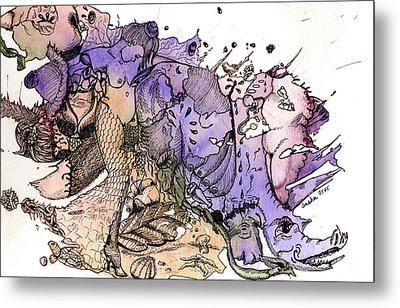 Lucid Mind - 6 Metal Print by Alexandra Louie