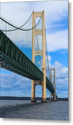 Mackinac Bridge Metal Print by Cindy Lindow