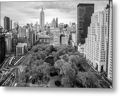 Madison Square Park Birds Eye View Metal Print by Susan Candelario