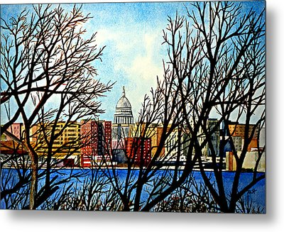 Madison Treed Metal Print by Thomas Kuchenbecker