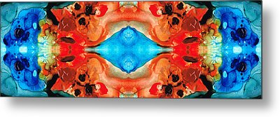 Magic Mirror - Abstract Art By Sharon Cummings Metal Print by Sharon Cummings