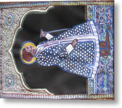 Metal Print featuring the painting Maharaja Jai Singh by Vikram Singh
