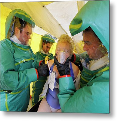 Major Emergency Decontamination Training Metal Print
