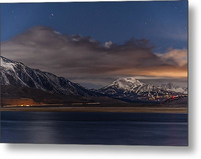 Mammoth At Night Metal Print by Cat Connor