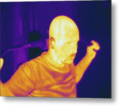 Man Exercising, Thermogram Metal Print