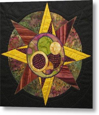 Mandala No 4 Compass Rose Metal Print