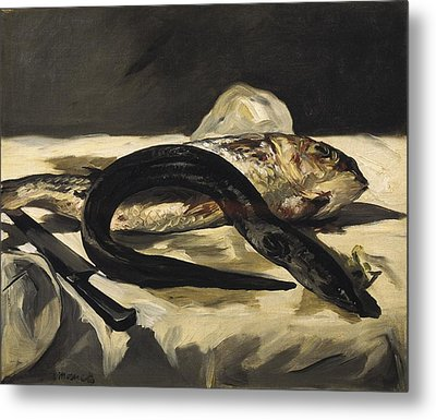 Manet, �douard 1832-1883. Still Life Metal Print by Everett