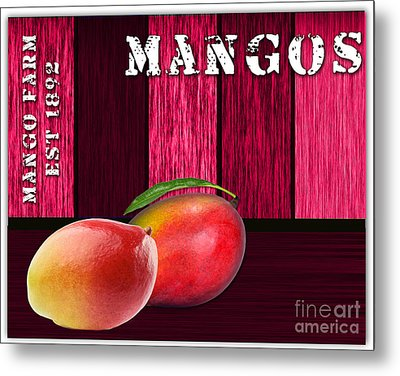 Mango Farm Sign Metal Print