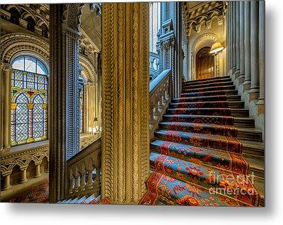 Mansion Stairway Metal Print by Adrian Evans