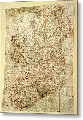 Map Of Ireland Metal Print by British Library