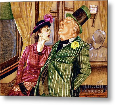 Margaret And W.c. Fields Metal Print