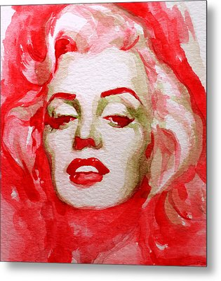 Metal Print featuring the painting Marilyn by Laur Iduc
