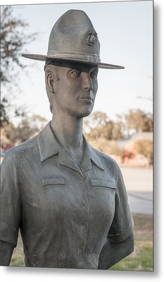 Marine Drill Instructor Metal Print by Roger Clifford