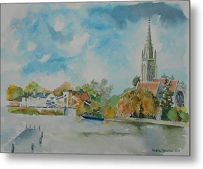 Marlow On Thames Metal Print