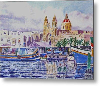 Marsaxlokk Malta Metal Print
