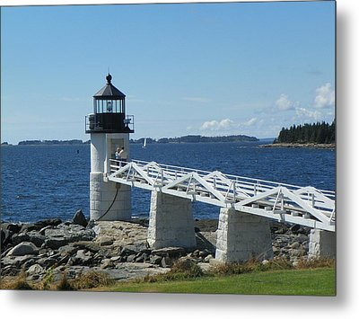 Marshall Point Lighthouse Metal Print by Joseph Rennie