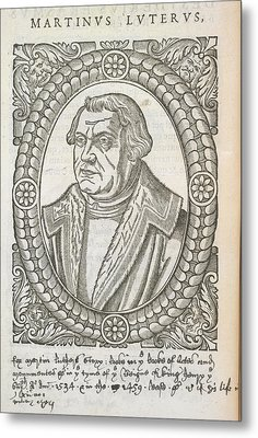 Martin Luther Metal Print by British Library