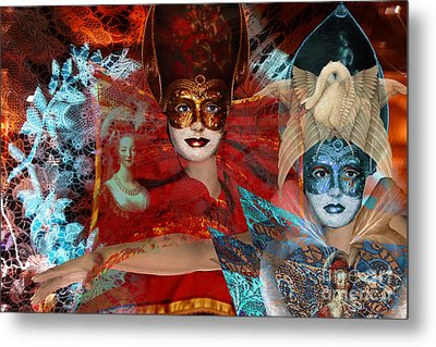 Mascarade Metal Print