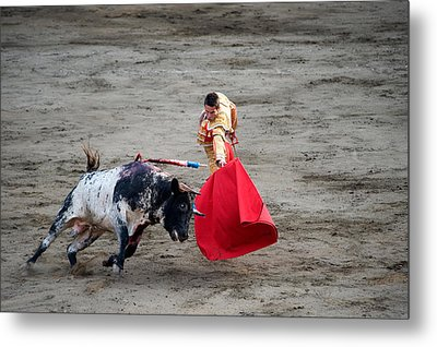 Matador And A Bull In A Bullring, Lima Metal Print