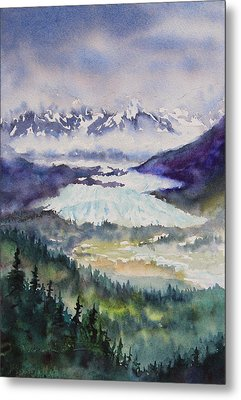 Matanuska Glacier Metal Print by Karen Mattson