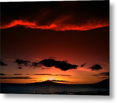 Metal Print featuring the photograph Maui Sunset by Ron Roberts