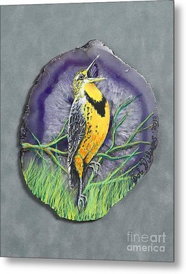 Meadow Soloist I Metal Print