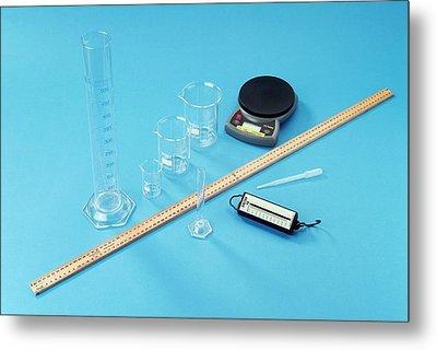 Measuring Equipment Metal Print