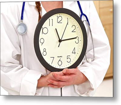 Medical Time Metal Print by Lea Paterson