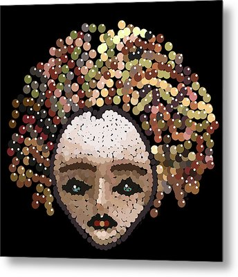 Medusa Bedazzled After Metal Print by R  Allen Swezey