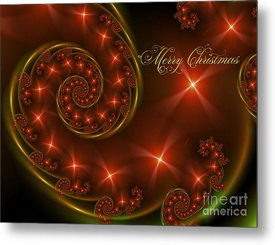 Merry Christmas Metal Print by Lena Auxier
