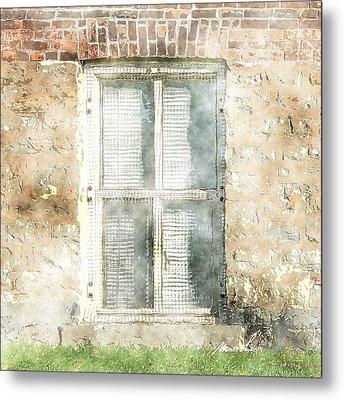 Mesh Window Metal Print by The Art of Marsha Charlebois