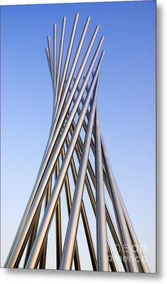 Metal Sculpture At Fermilab Metal Print by Mark Williamson