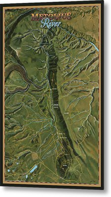 Metolius River Metal Print by Pete Chadwell