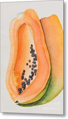 Mexican Papaya Metal Print