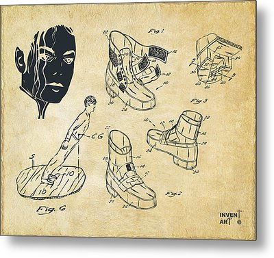 Michael Jackson Anti-gravity Shoe Patent Artwork Vintage Metal Print