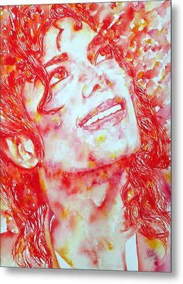 Michael Jackson - Watercolor Portrait.2 Metal Print