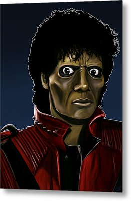 Michael Jackson Thriller Metal Print