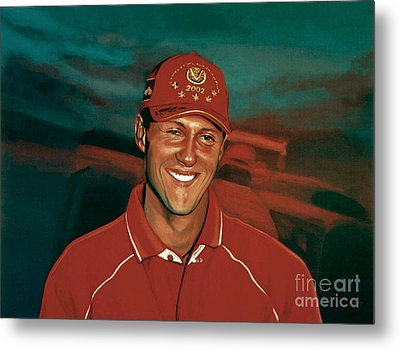 Michael Schumacher Metal Print by Paul Meijering