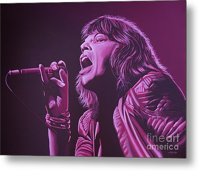Mick Jagger 2 Metal Print by Paul Meijering
