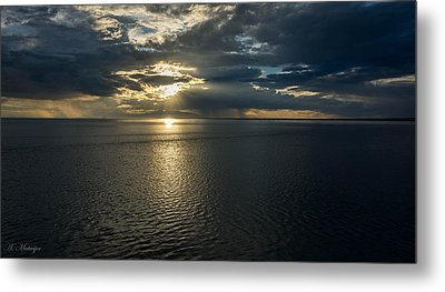 Midnight Sun Over Mount Susitna Metal Print