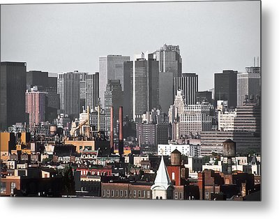 Metal Print featuring the photograph Midtown Manhattan 1978 by Kellice Swaggerty