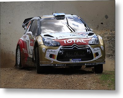Mikko Hirvonen Fia World Rally Championship Australia Metal Print by Noel Elliot
