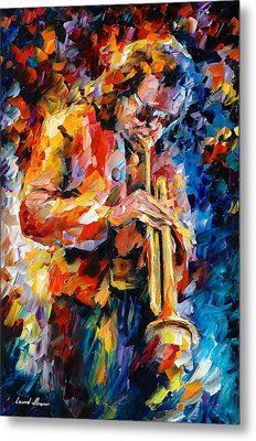 Miles Davis Metal Print by Leonid Afremov
