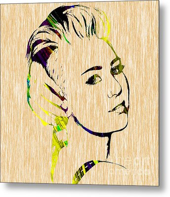 Miley Cyrus Collection Metal Print