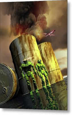 Military Robots Metal Print by Victor Habbick Visions